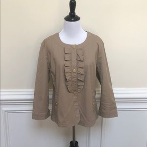 NEW without tags! Talbots Tan Jacket - Size 12